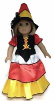 Halloween Candy Corn Witch & Hat Costume Made For 18 American Girl Doll Clothes