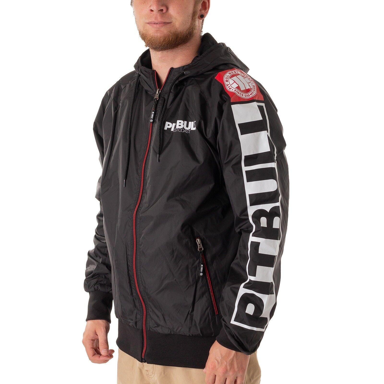 P.B.M.C Pitt Bull Athletic 8 Jacke Herren Übergangsjacke schwarz 43251