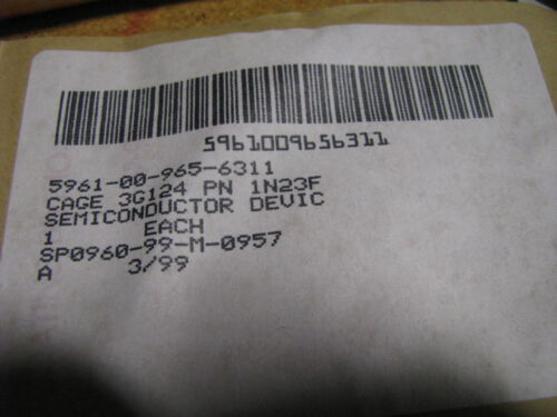 5961-00-965-6311 Details about  /M//A COMM DIODE PART # 1N23F   NSN