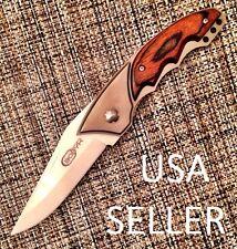 "CERAMIC WHITE large folding pocket knife EDC 3 1/4"" liner lock FANG by BOBYK new"