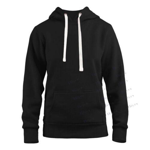Womens Ladies Hoodie Pull Over hoody Plain Casual Hooded Sweat Shirt 6-16 lot