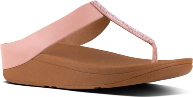 032b8cf8a FitFlop™ FINO™ Ladies Womens Beach Crystal Toe Post Flip Flop Sandals Dusky  Pink