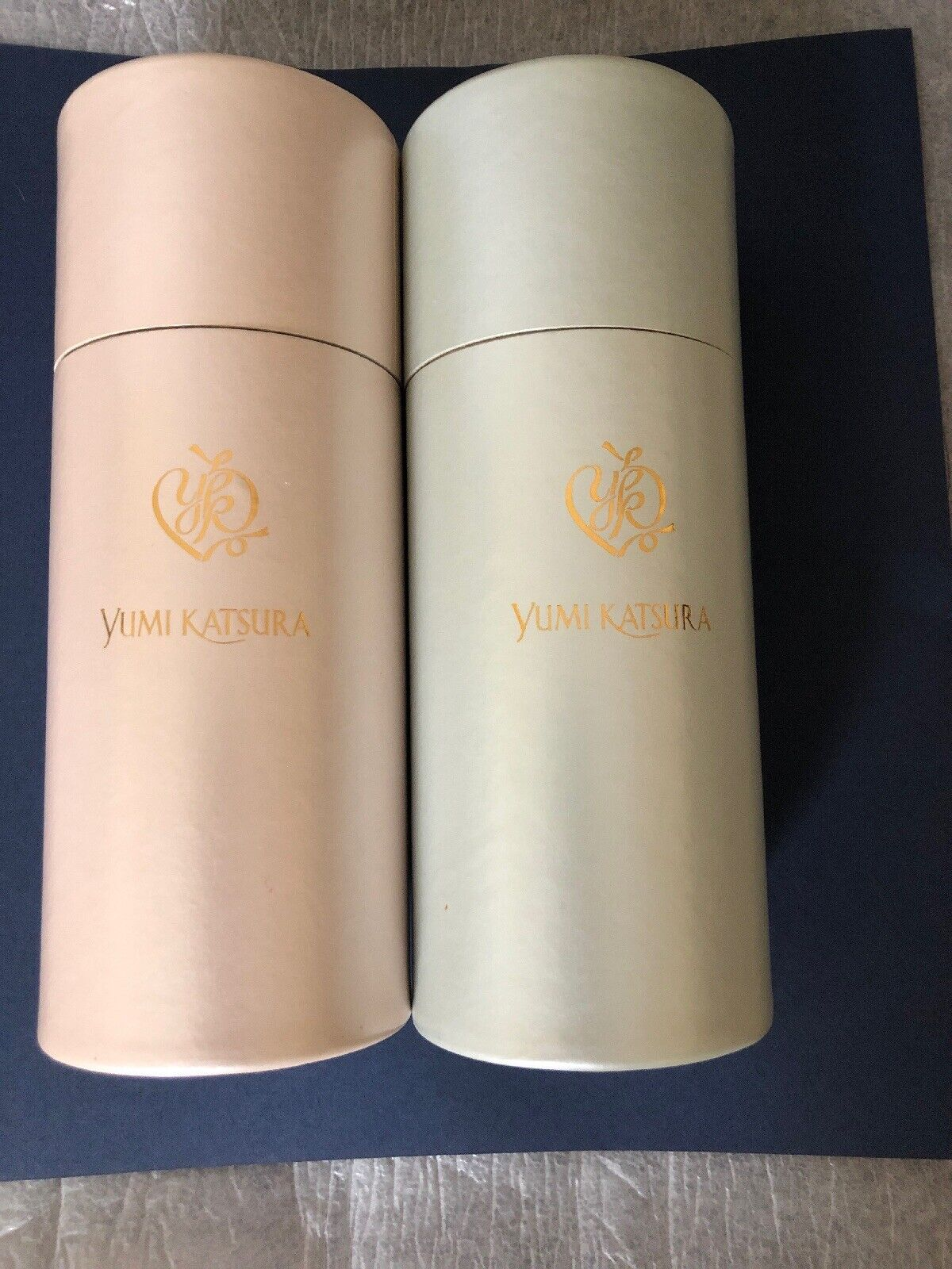 Japanese YUMI KATSURA Wedding Wine Iced Art Design GLASS 2 Pcs New