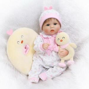 17''42cm Lovely Toddler Soft Silicone Reborn Doll  Baby Girl Look Real Xmas Gift