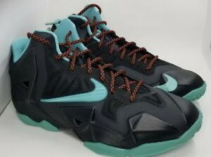 huge discount 39c0c 4a429 Image is loading Nike-LeBron-James-XI-Diffused-Jade-Black-621712-