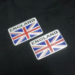 2x Big England Metal Badge Sticker Emblem Decal 3d Utility Car Logo