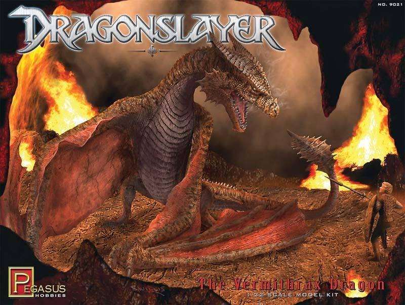 Pegasus 9021 Dragon Slayer Vermithrax Diorama Plastic Model Kit 1 32