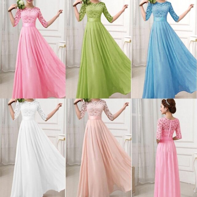 SALE Women Lace Chiffon Bridesmaid Prom Ball Cocktail Party Evening Formal Dress