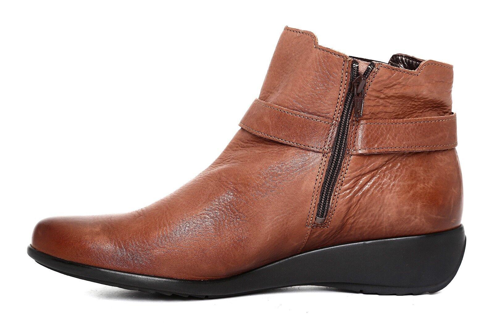 Mephisto Stefania Wedge Leather Stiefelie braun braun braun damen Sz 9.5 5808  1c246d