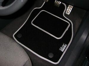Argent-Edition-Tapis-de-Voiture-pour-Audi-A1-S-LINE-2010-On-Logos