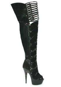 Ellie-Shoes-609-KATRINA-Katrina-6-039-039-Peep-Toe-Thigh-High-With-Knee-Cut-Outs
