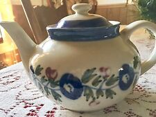 Design Pac China Teapot With Blue Flower Design