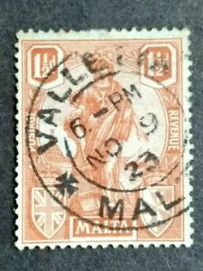 1922 Malta Allegorical 1/2d - 1v Used