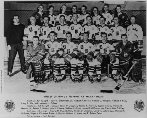 """8/"""" x 10/"""" 1960 United States Olympic Hockey Squad"""