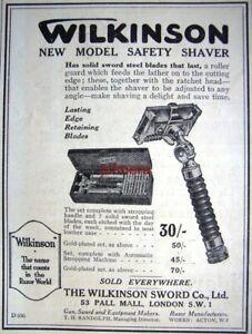 WILKINSON-039-New-Model-039-Safety-Razor-Shaving-ADVERT-Small-1921-Print-AD