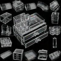 cosmetic organizer makeup drawers display box acrylic clear cabinet case set ebay. Black Bedroom Furniture Sets. Home Design Ideas