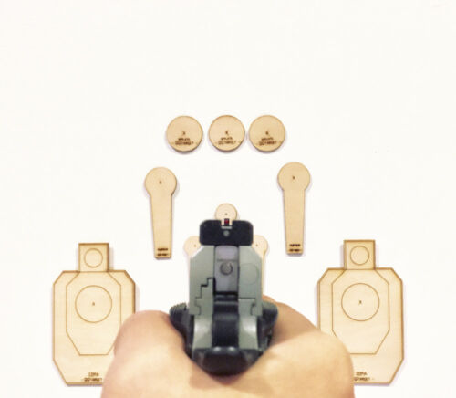 QQTarget Realistic Short Distance Dry-Fire Target IDPA shooting practice