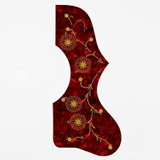 Acoustic Guitar Pickguard ,Tortoise-Red For J-200 SJ-200 Style Guitar