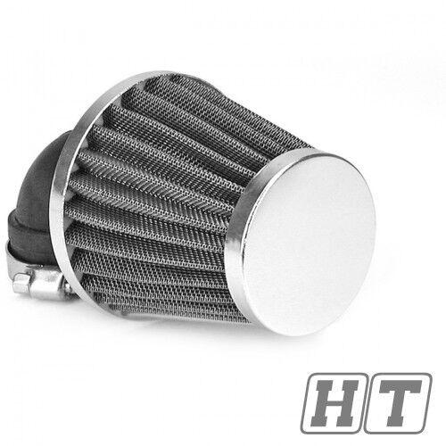 Filtro aria TNT 1 maglia di acciaio cromato angolare 28 35mm a scooter, moto
