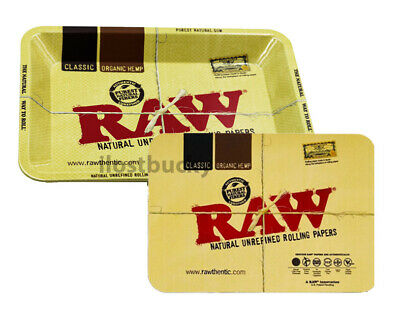 Metal Rolling Trays With Magnetic Lids 7in x 5½in Raw