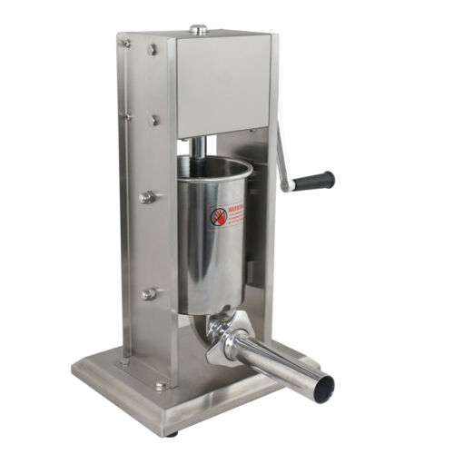 3L Vertical Commercial Sausage Stuffer 7LB Two Speed Stainless Steel Meat Press