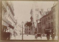 Dijon France Photo amateur Vintage papier citrate ca 1900