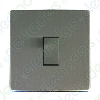 7175//SC CRABTREE INTERMEDIATE SWITCH FLAT PLATE SATIN CHROME