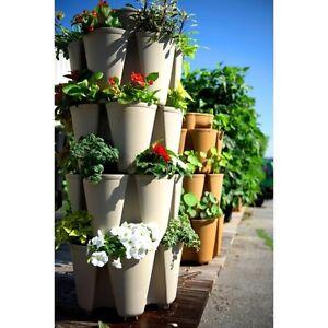 Image Is Loading GreenStalk Stackable Vertical Garden  Vegetable Flower Stacking Gardening