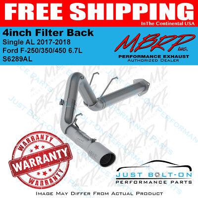 Single MBRP Aluminized Steel S6289AL 4 Filter Back Exhaust System