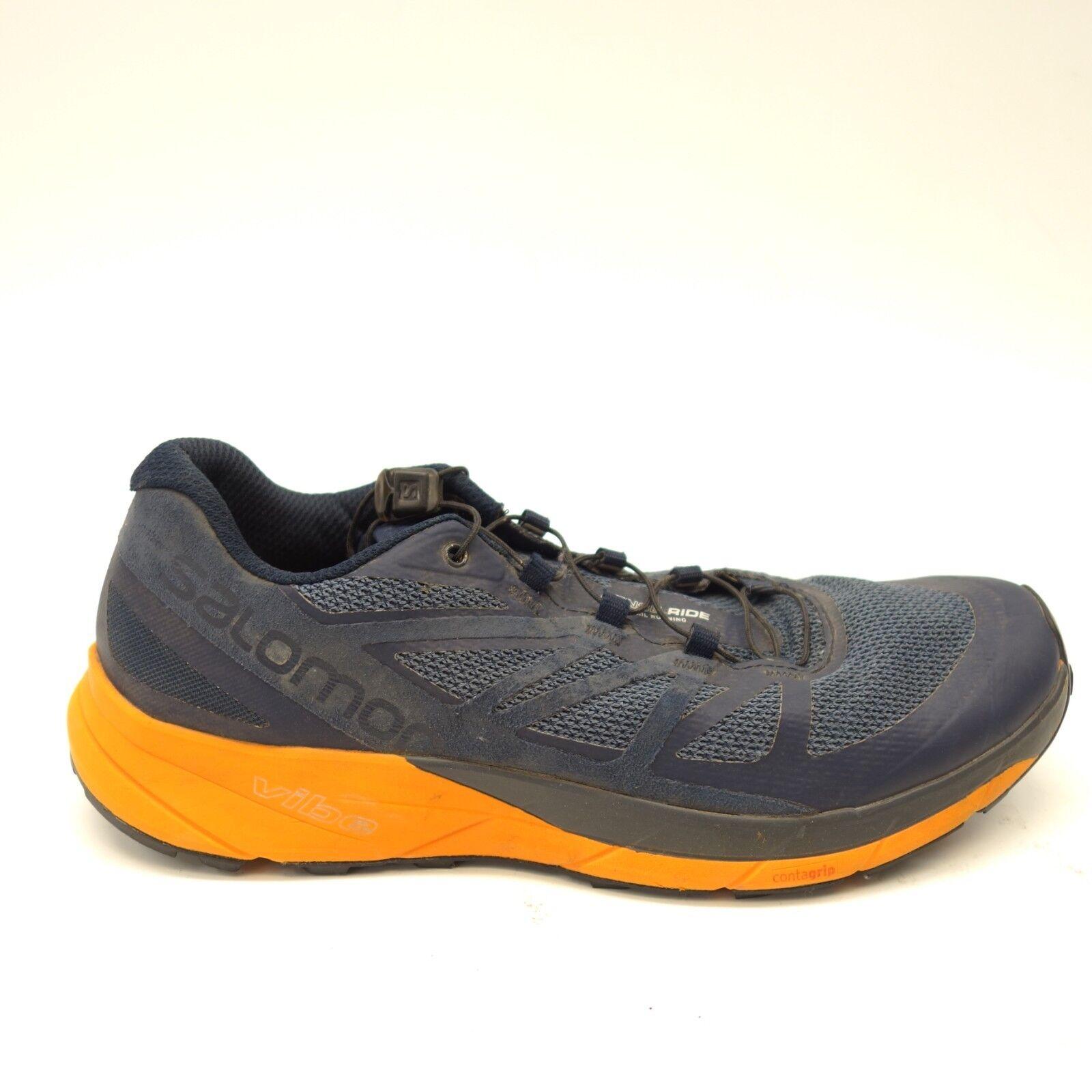 new product fd350 fdf22 Salomon Hommes Sense Sense Sense Ride Bleu Athlétique Randonnée Montagne  Chaussures Course 1eef8e