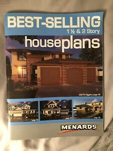 Brand New Menards Best Selling One And A Half Two 2 Story House Plans Book Ebay