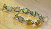Speidel Usa 10-13mm Ladies Gold Oval Links Band Strap W/ Safety Chain-