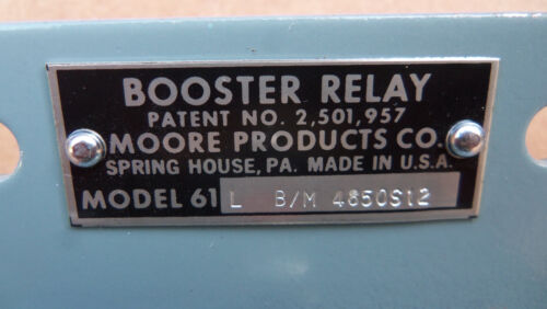 New Moore Products 61L Booster Relay B//M 4850S12