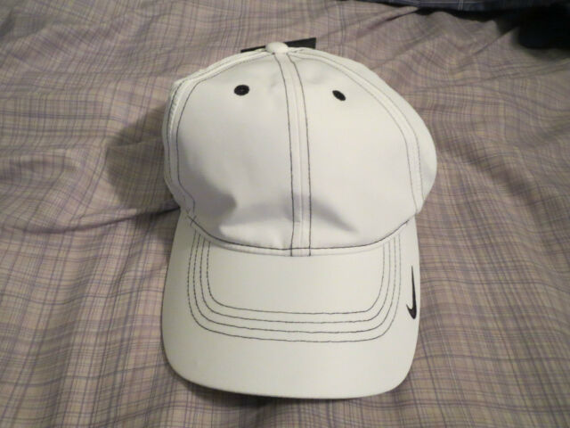 5539e845d04 Brand New Nike Men s Closeout Contrast Stitch Blank Tennis Golf White Cap  Hat