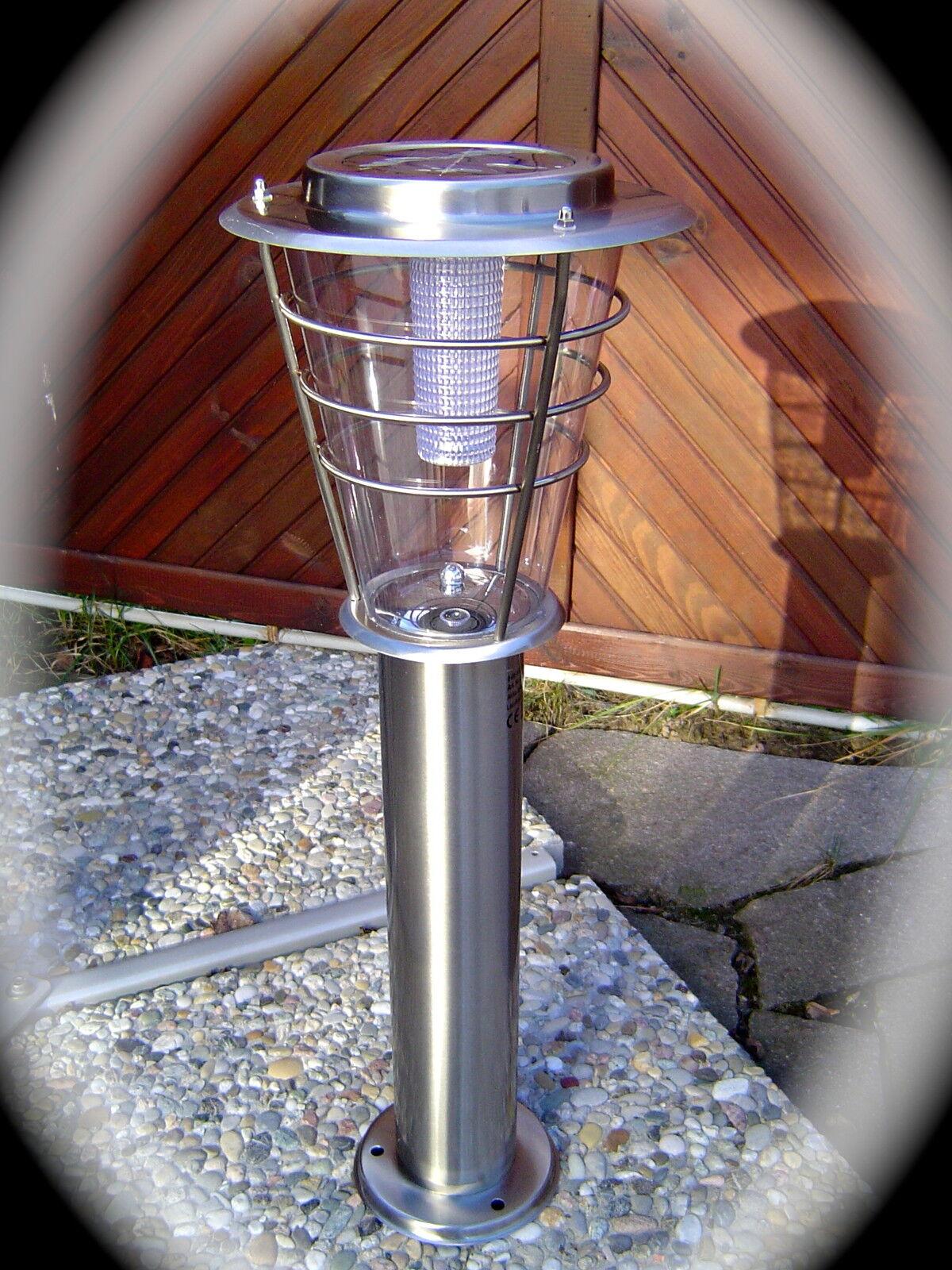 Di alta qualità 60 cm acciaio inox lampada solare con 6 LED Lampada da giardino terrazza 190