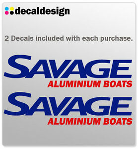 Savage-Boats-Decal-33cm-Pair-as-picture-relacement-boat-tinny-fishing-stickers
