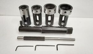 STRAIGHT SHANK LATHE TAIL STOCK FLOATING DIE HOLDER 3 PIECE SET