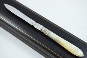WALKER-amp-HALL-MOTHER-OF-PEARL-SHEFFIELD-SOLID-SILVER-BLADED-LETTER-OPENER-1911