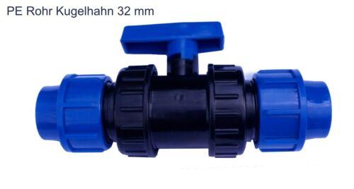 Kunststoff Kugelhahn 32 mm 2 Wege Hahn Absperrhahn Kugelventil Ventil Pool