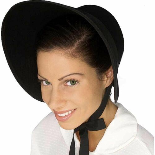Colonial Felt Bonnet Hat Fancy Dress Halloween Adult Costume Accessory 6 COLORS