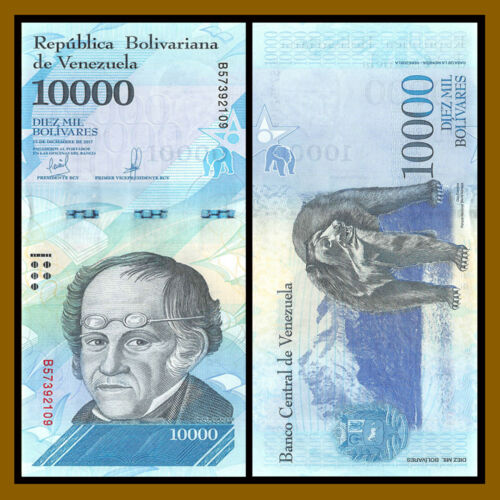 100,000 Bolivares New 2016-2017 Unc Venezuela 500-100000 7 Pieces Pcs Set