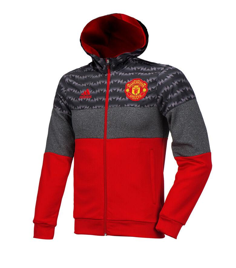 Adidas Manchester United Polar Chaqueta De Capucha fútbol de formación superior de AJ9885