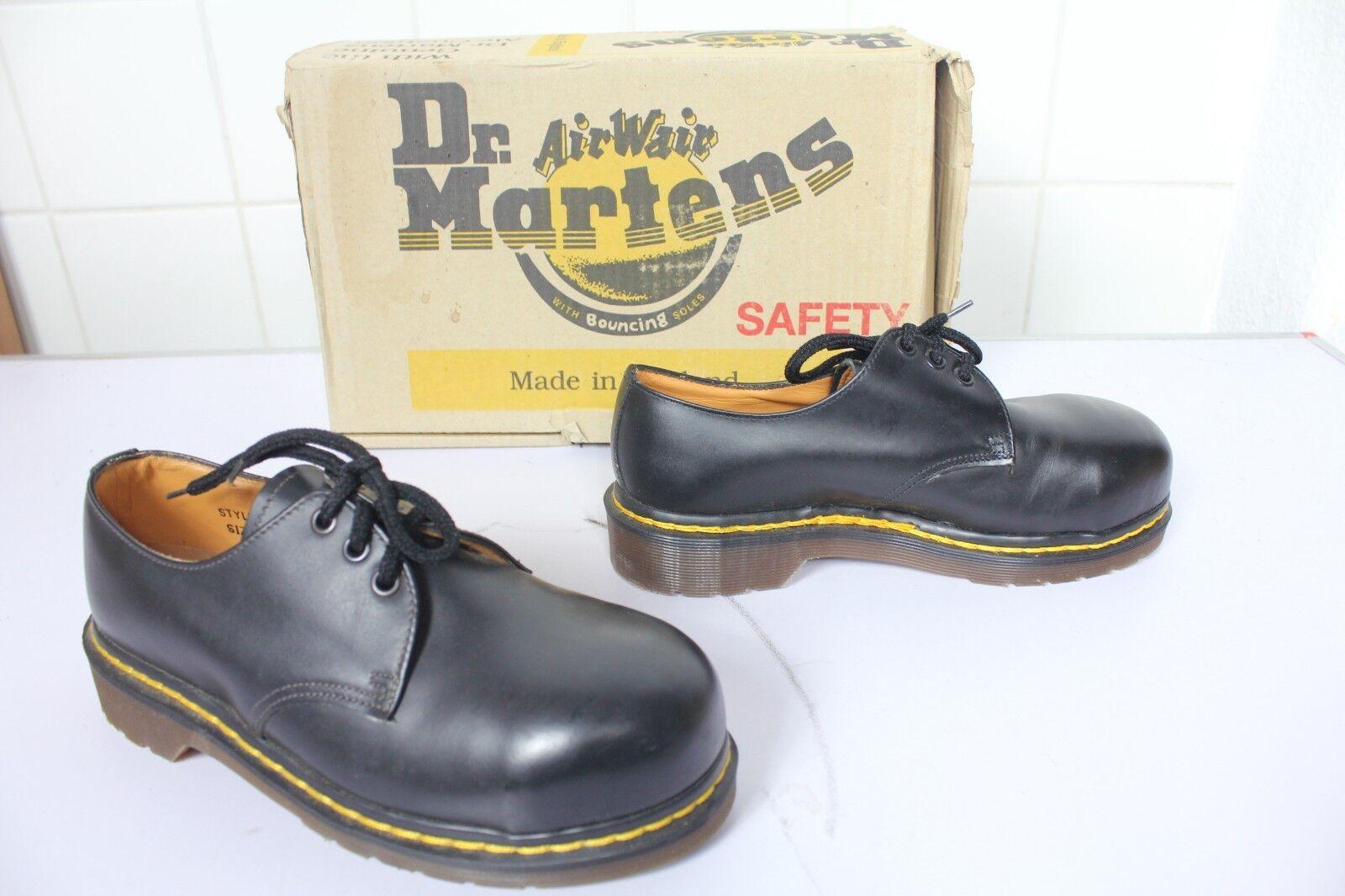 Vintage Dr. Martens Safety schnürzapatos negro eu 38-uk 38-uk 38-uk 5 fabricado en Inglaterra-nuevo  buen precio