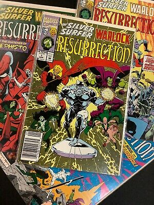 Lot VF 1993 MARVEL Comics The SILVER SURFER // WARLOCK #1-4 Resurrection