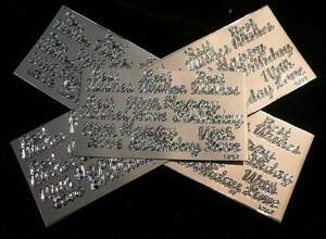 45x Silver Peel-Off Stickers Best Wishes Happy Birthday