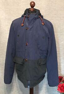 Next-Mens-Jacket-Coat-Outerwear-Size-XL-Navy-And-Black