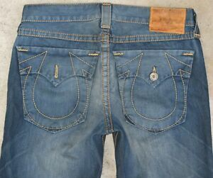 bc23d80e6 True Religion Ricky Big T Straight Jeans Mens Sz 36 x 31 100% Cotton ...