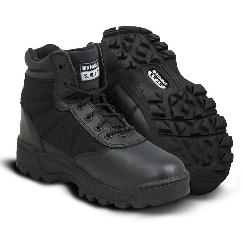 Original S.W.A.T. 115101 clásica para hombre botas Zapatos transpirables NEGRO SWAT 6