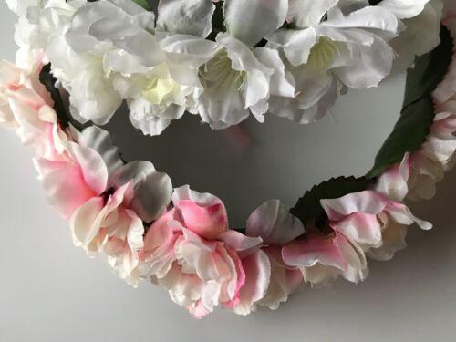 Women Girl Flower Bridal Festival Party Wedding Tiara hair headband Garland
