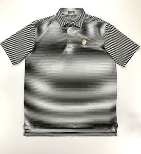 Peter-Millar-Summer-Comfort-Men-s-Large-Polo-Shirt-Black-White-Stripe